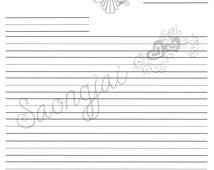 Catholic Kids Ruled Line Stationary Printable PDF