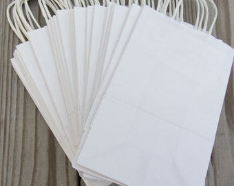 20 Pack - White Paper Handle Bags(16x6x12)