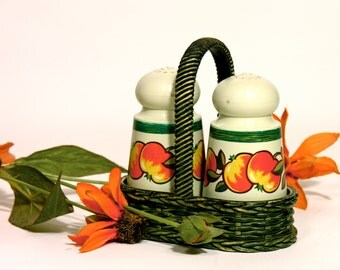 Emsa Salt and Pepper-West Germany-1970-Made in Germany-70 's Design-Home Decor-Houseware-Kitchenware