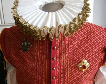 Renaissance, Elizabethan Ruff, Collar with golden lace