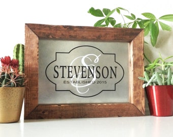 Family Established Sign Last Name Established Sign Rustic Wood Personalized Family Name Sign
