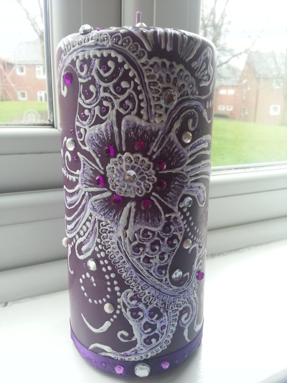 Mehndi Candles Personalised : Items similar to personalised henna candles made order