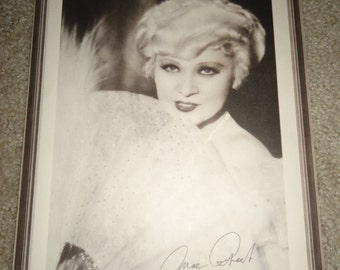 Original 1934 Mae West Belle Of The Nineties Movie Poster Promo Press Photo 8x10 Signed