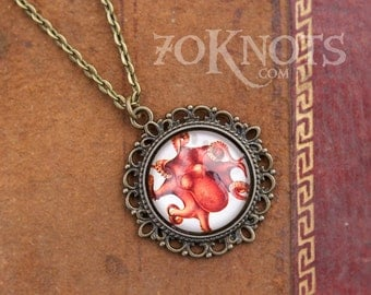 READY TO SHIP Octopus Pendant Necklace