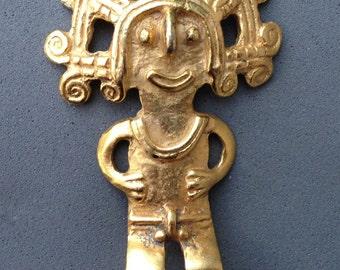 Vintage Aztec  Pin