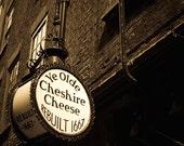 Ye Olde Cheshire Cheese - Original Fine Art Photograph - Pub Sign