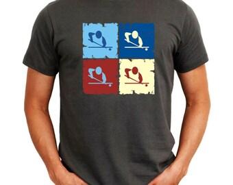 Billiards Pop Art T-Shirt