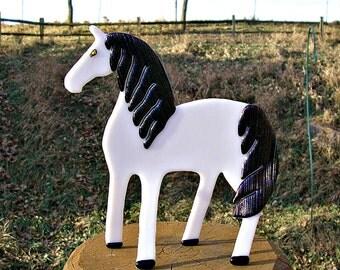 Handmade Glass Horse Fused Glass Art Glass Sculpture Horse Art Equestrian Decor