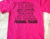 I Am A Daycare Teacher Shirt, Preschool Teacher, Pre-K Teacher Shirt, Kindergarten Teacher, Director, Daycare Provider, Daycare Owner Shirt