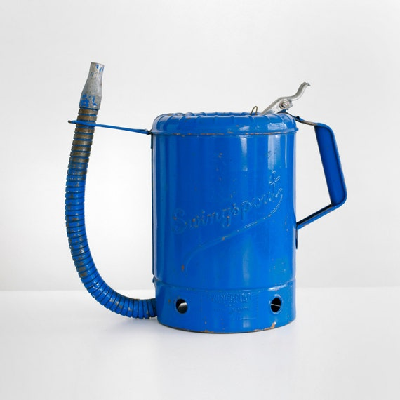 Lubricant Suppliers Y Mail: Vintage Swingspout Oil Can Swingspout Can Vintage Oil Can