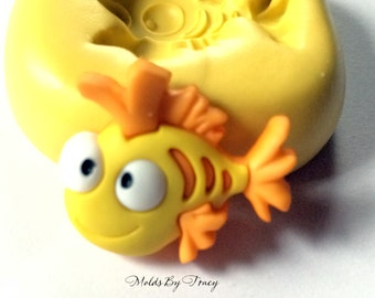 Fish #002 Mold, Fish kawaii mold,Jewelry Molds,Crafting Molds,Polymer Clay Molds, Resin Molds, Fondant Molds,Wax Molds