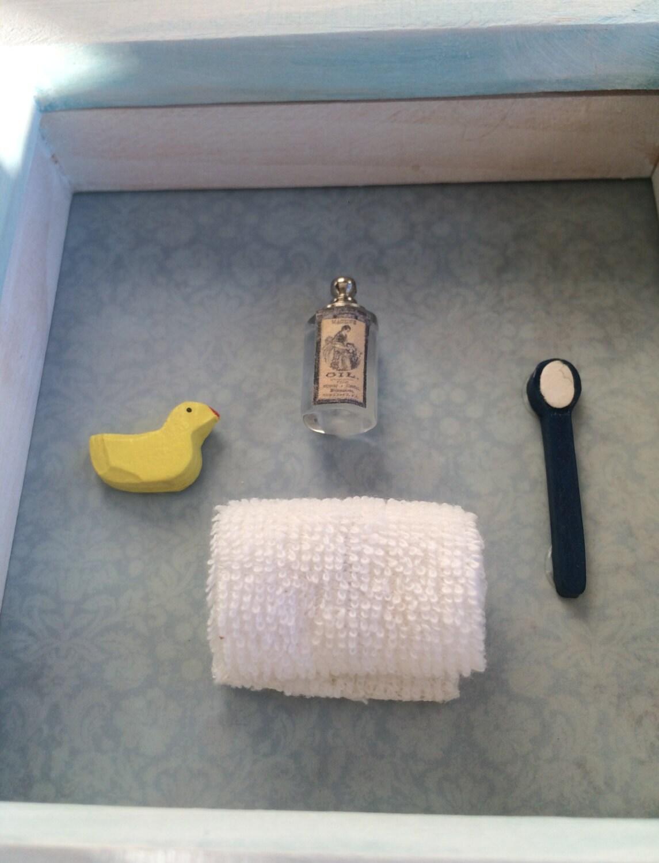 Bathroom art bathroom decor box frame art by for Bathroom decor frames