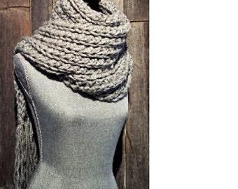 The Fringe - Extra long scarf with fringes, fringed long scarf, crochet long scarf