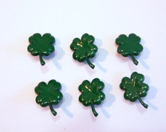Irish Shamrock Buttons Jesse James Buttons Celtic Creations Dress It Up Buttons Set of 6 Shank Back Green - 512 F