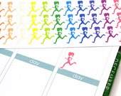 42 Running Stickers / Running Girl Silhouette! Perfect for Erin Condren Life Planner, Filofax, Plum Paper, planner, scrapbooking! #SQ00508