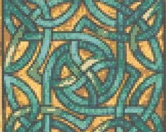CROSS STITCH KIT - Celtic Round 17cm x 17 cm