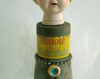 "Bodelia ""Buddy"" Picktooth - Assemblage Art Doll"