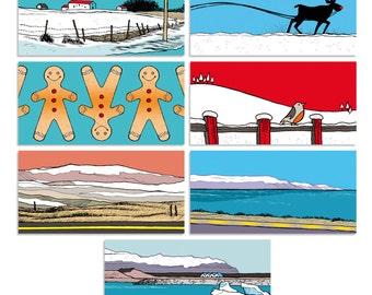 "Printable // Set of 10 gift tags ""Snow Mix // Iceland"""