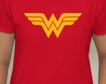 Wonder Woman inspired Glitter t-shirt - Red