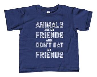 Vegetarian T-Shirt - George Bernard Shaw - Vegan TShirt - Youth and Toddler Sizes - 2T-Youth Large