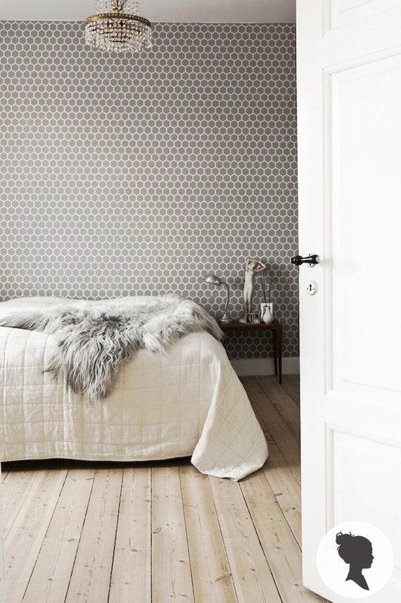 peel and stick honeycomb removable wallpaper m012 by livettes. Black Bedroom Furniture Sets. Home Design Ideas