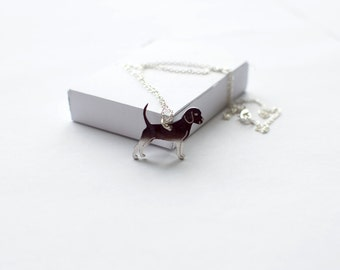Beagle necklace! Sterling silver chain