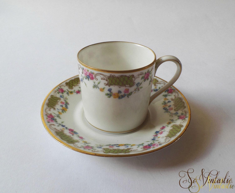 C Ahrenfeldt Limoges Porcelain Cup And Saucer France Depose
