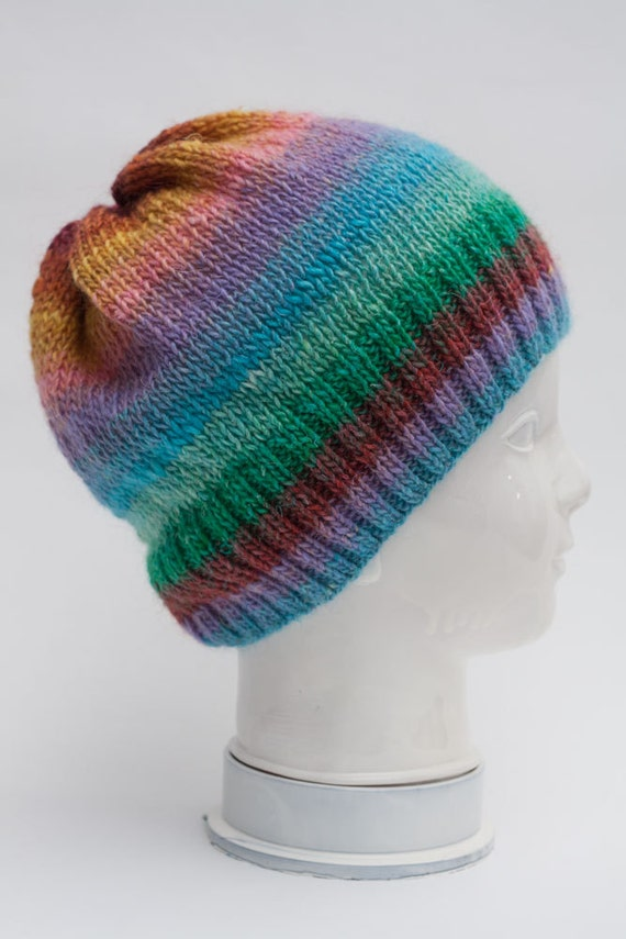 Knitting Pattern For Mohair Beanie : Silk Kid Mohair Lambs Wool Hand Knitting Hat Womens by JuliaHats