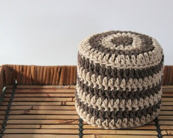 Crochet Toilet Paper Cover, Toilet Paper Cover, Bathroom Decor, Brown and Jute, Modern Decor, Rustic Decor, Toilet Paper Storage