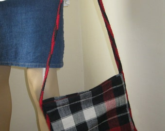 Vintage hand woven wool traditional bag from Transylvania
