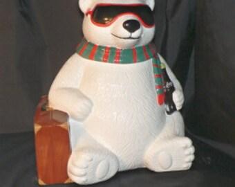 Coca Cola Hollywood Polar Bear Cookie Jar
