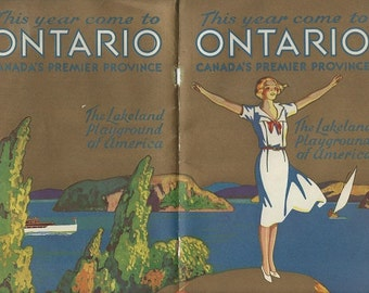 Ontario Canada visitors pamplet 1930s download
