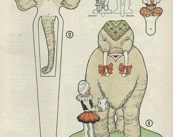 1926 Elephant finger puppet download