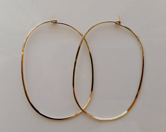 Gold Hoop Earings, Large Hoop Earrings, Rose Gold Hoop Earrings, Oval Hoop Earrings, Big Hoop Earrings, Rose Gold Hoops, Hoop Earings, Hoops