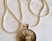 "St Andrew Apostle Pendant with 20"" Sterling Silver Chain - 28mm"