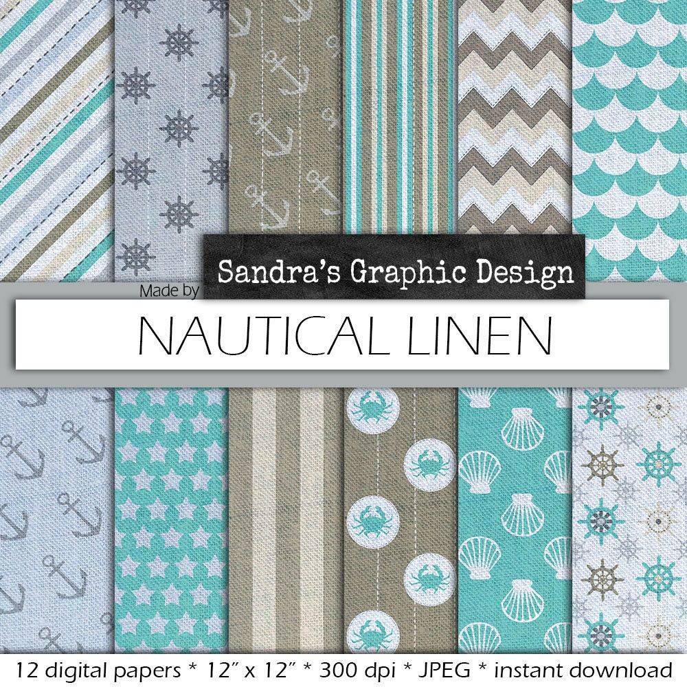 sale 50 off nautical digital paper in by sandragraphicdesign