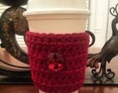 Coffee Mug Cozy - Travel Mug Cozy - Coffee Cozy - MugCozy - Coffee Sleeve Wine Red