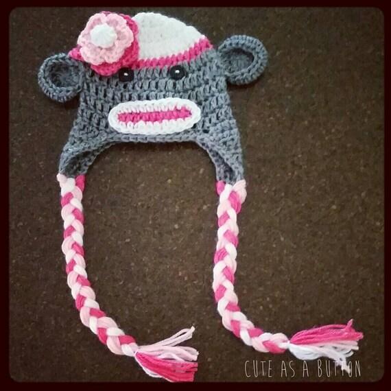 baby crochet sock monkey hat crochet beanie baby crochet