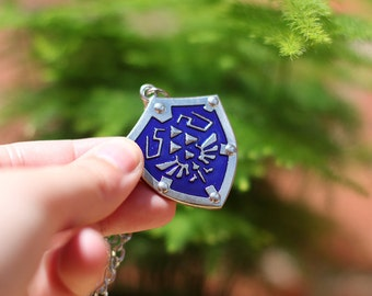 Hylian shield necklace made of stainless steel