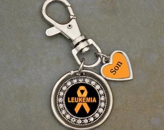 Custom Loved One Leukemia Awareness Keychain