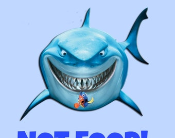 Finding Nemo Fish Are Friends ... Not Food! 8x10 Digital Print - Instant Download