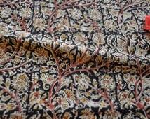 Beautiful unique Indian Kalamkari fabric block printed kalamkari cotton fabric by the yard