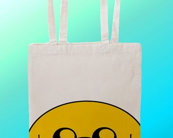 Adventure Time Jake the Dog - Reuseable Shopping Cotton Canvas Tote Bag