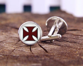 Maltese Cross, Maltese Cross Cuff Links, Cross Cufflinks, Maltese Cuff Links, Custom Wedding Cuff Links, Groom Cuff Links, Tie Clips, or Set