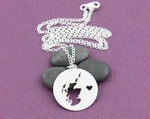 SALE - Scotland Necklace - Scottish Pendant - Scottish Charm - Personalize Map Necklace -Map Jewelry -Travel Charm -Handmade Circle Jewelry