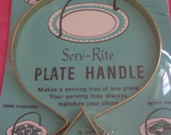 Vintage New in Package Serv-Rite Plate Handle Serving Plate