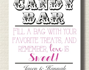 "Candy Bar/Buffet Sign for Wedding 8x10"" Digital Download"