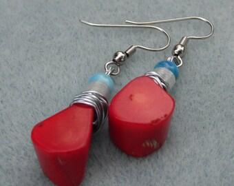 Classy Dyed Stone Dangle Earring