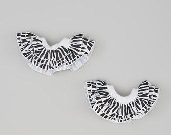 ZEBRA Rufflettes, stackable & Interchaneable Ruffles for Celegrity Leggings- also for Socks, Hair and bracelet, DIY Kids Fun Fashion