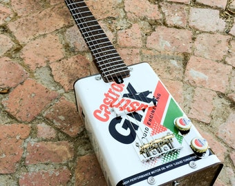 Original South African Oil Can Guitar. Handmade to order